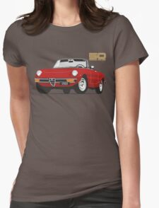 Alfa Romeo Series 2 Spider red Womens Fitted T-Shirt