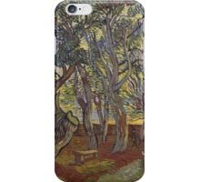 Vincent Van Gogh - The garden of Saint Paul's Hospital, December , Impressionism 1889 - 1889 iPhone Case/Skin