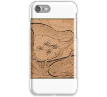 A dragon emerging from its lair, signed by Murtaza Quli Shamlu, Persia,  iPhone Case/Skin