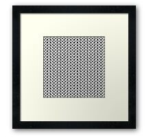Chevrons Knit Style Framed Print