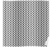 Chevrons Knit Style Poster