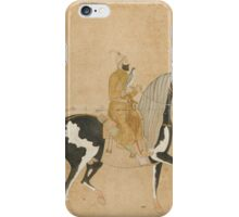 A falconer mounted on a dappled horse, Mughal, late 17th or early 18th century iPhone Case/Skin