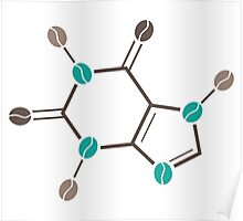 coffee beans caffeine structure Poster