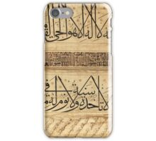 A fine calligraphic scroll section, Turkey or Persia, Ottoman or Timurid, mid-15th century iPhone Case/Skin