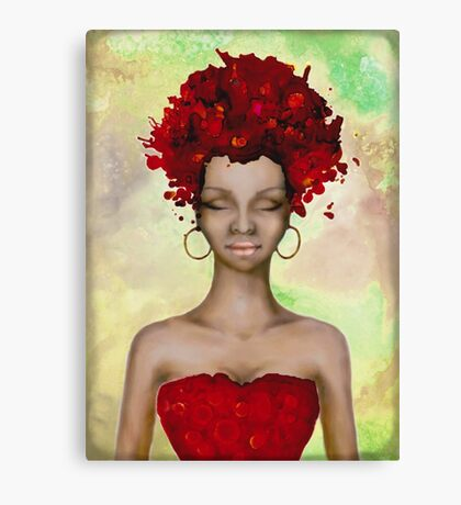 Crazy Red Hair morning Canvas Print