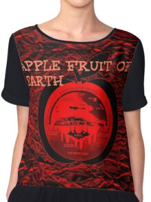 APPLE AND THE FLAT EARTH Chiffon Top