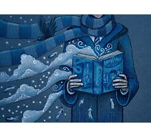 Books magic blue Photographic Print