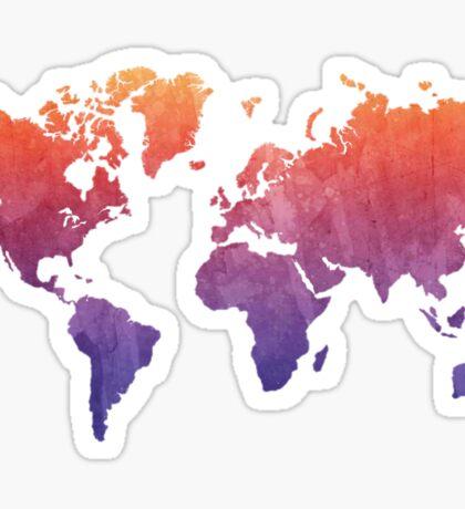 World Map Watercolor Grunge Sticker