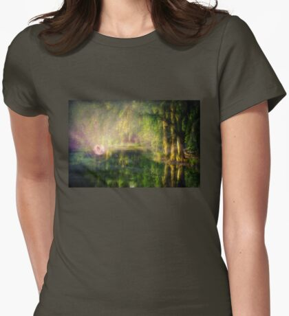 Fairy in Pink bubble in Serenity Forest Womens Fitted T-Shirt