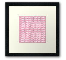 1-800-ALPHAOMICRONPI Framed Print