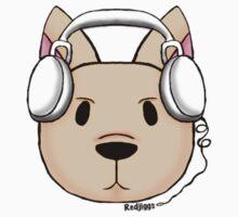 Dog Headphones Kids Tee