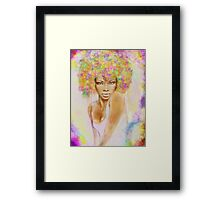 The girl with new hair style Framed Print