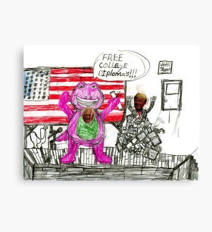 Bernie and Donald Canvas Print