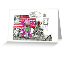 Bernie and Donald Greeting Card