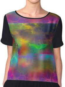 Colorful abstract landscape over lake Chiffon Top