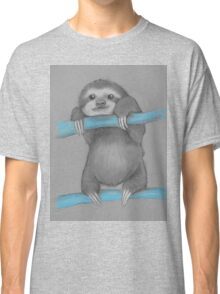 Cute adorable sloth illustration oil pastel Classic T-Shirt