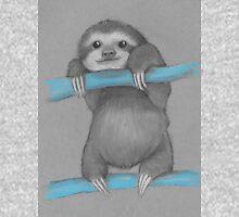 Cute adorable sloth illustration oil pastel Unisex T-Shirt