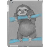 Cute adorable sloth illustration oil pastel iPad Case/Skin