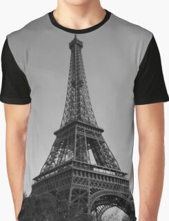 Eiffel Tower Black & White (Paris) Graphic T-Shirt