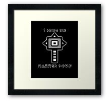 Monster Hunter Hammer Framed Print
