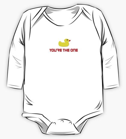 Rubber Ducky You're The One - I Love Duck T-Shirt One Piece - Long Sleeve