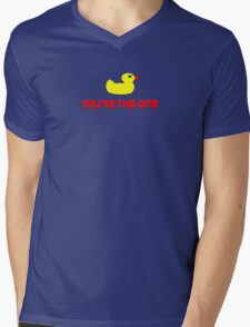 Rubber Ducky You're The One - I Love Duck T-Shirt Mens V-Neck T-Shirt