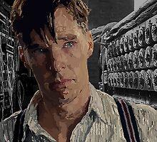 The Imitation Game - Benedict Cumberbatch Digital Portrait  by Katie  McNeice