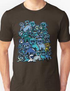 The Shiny Blue Monkey Pile Accepts the Odd Monkey Out Unisex T-Shirt