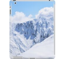 Aerial Photo New Zealand Snow White Covered Mountains iPad Case/Skin