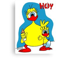 Rick the chick & Friends - Hedy Canvas Print