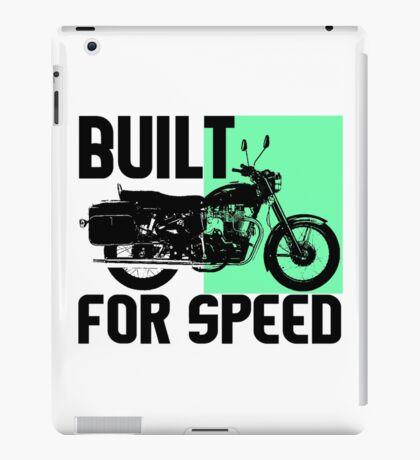 BUILT FOR SPEED-MOTORCYCLE iPad Case/Skin