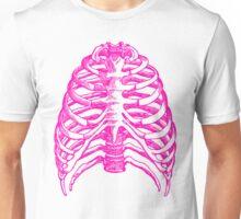 Skeleton rib cage - pink Unisex T-Shirt