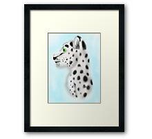 Snow Leopard Fuzzy Bust Framed Print