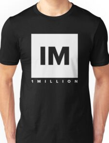 1 MILLION Dance Studio Logo (White Version) Unisex T-Shirt