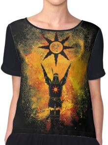 Praise the Sun Art Chiffon Top