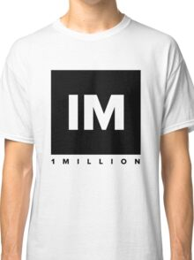 1 MILLION Dance Studio Logo (Black Version) Classic T-Shirt