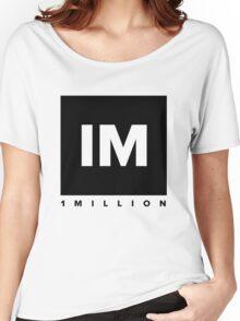 1 MILLION Dance Studio Logo (Black Version) Women's Relaxed Fit T-Shirt