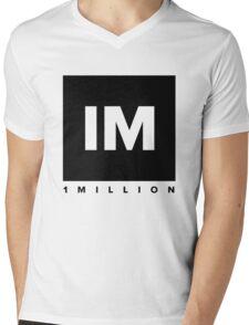 1 MILLION Dance Studio Logo (Black Version) Mens V-Neck T-Shirt