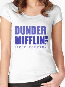 Dunder Mifflin inc. Women's Fitted Scoop T-Shirt
