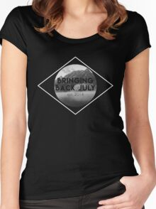 Bringing Back July Logo--White Women's Fitted Scoop T-Shirt