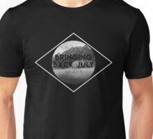 Bringing Back July Logo--White Unisex T-Shirt
