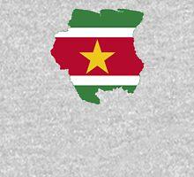 Flag Map of Suriname   Unisex T-Shirt
