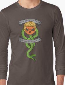 Voldemort Trump Death Eater Dark Mark Harry Potter Books Politics President Election Print Long Sleeve T-Shirt