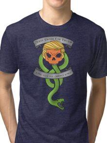 Voldemort Trump Death Eater Dark Mark Harry Potter Books Politics President Election Print Tri-blend T-Shirt
