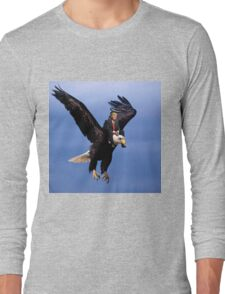 Trump Riding Eagle Long Sleeve T-Shirt
