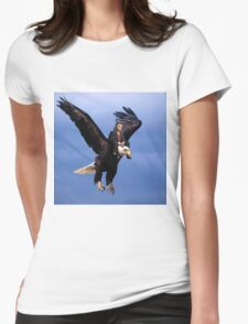 Trump Riding Eagle Womens Fitted T-Shirt