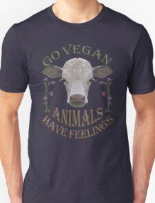 GO VEGAN - ANIMALS HAVE FEELINGS Unisex T-Shirt