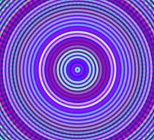 glitch kaleidoscope - blue Sticker
