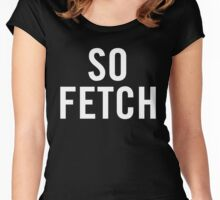 So Fetch (White) Women's Fitted Scoop T-Shirt