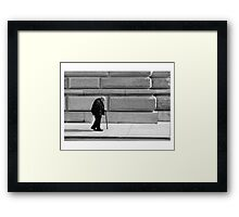 weight of the world. Framed Print